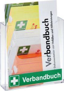 Verbandbuch mit Halterung