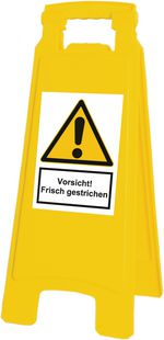 """Warnaufsteller """"Vorsicht! Frisch gestrichen"""""""