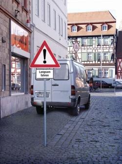Größe Verkehrszeichen