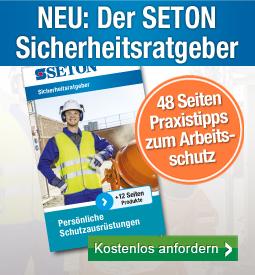 Erstausgabe: SETON Sicherheitsratgeber mit uvex-Markenauftritt und Branchen-Ausstattungen AT