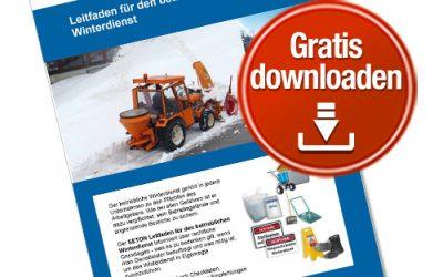 Kostenloser Leitfaden: Betrieblicher Winterdienst – mit Checklisten