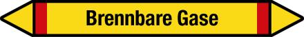 Beispiel: Gruppe 4 – Brennbare Gase, Farbe Gelb/Rot, Schriftfarbe Schwarz