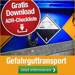 Gefahrguttransport gemäß ADR: Kennzeichnung und Ausrüstung + Gratis-Checkliste