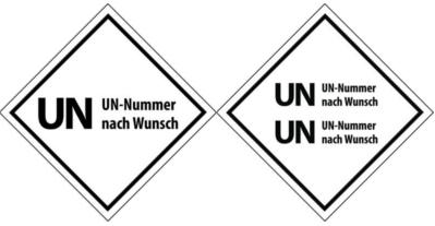 UN Aufkleber mit Wunschnummer