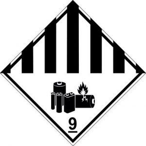 Neu: Eigener Gefahrzettel für Lithium-Batterien (Gefahrzettel 9A)