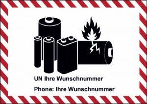 Neu: Verpackungskennzeichen für Lithium-Batterien nach ADR, RID, ADN, IMDG - Code, IATA