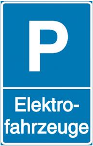 Parkgebotsschild Elektrofahrzeuge