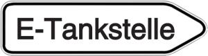 Wegweiser E-Tankstelle
