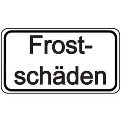 Schilder-Vorlage: Frostschäden