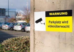 Videoüberwachung auf Parkplätzen