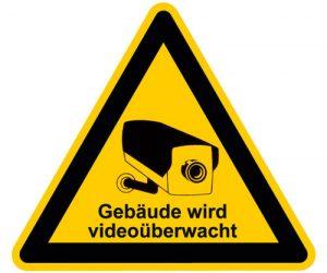 Videoüberwachung Gebäude wird videoüberwacht