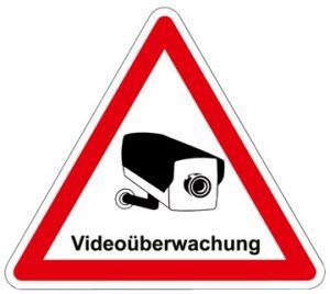 Schild Videoübewachung