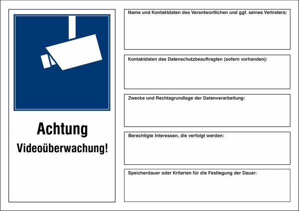 DSGVO-Kennzeichnung Videoüberwachung