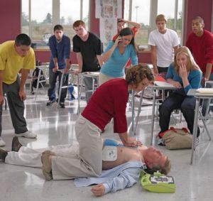 Defibrillator in der Schule