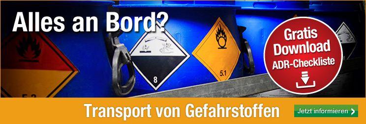 Banner Transport von Gefahrstoffen ADR