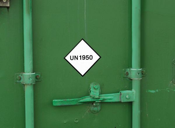 "UN Aufkleber ""UN 1950""; ADR 2019"