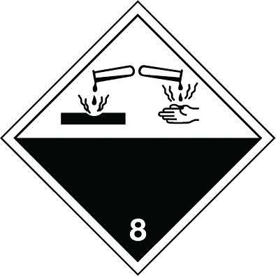 Symbol: Gefahrgutklasse 8 - Ätzende Stoffe