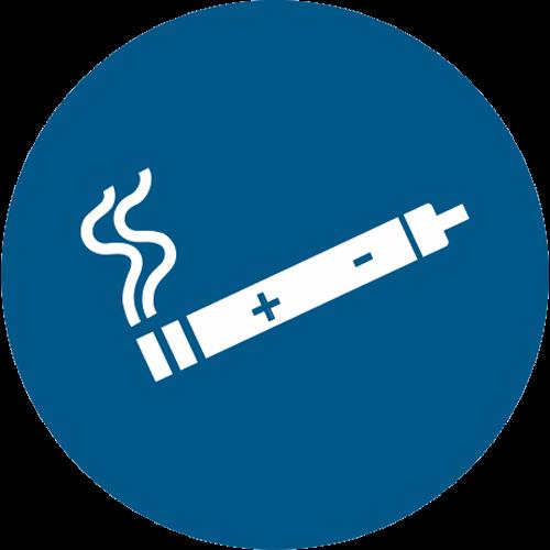 Gebot - E-Zigarette erlaubt
