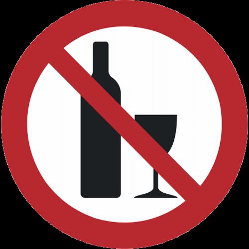 Verbot - Alkohol verboten