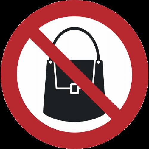 Verbot - Handtaschen verboten