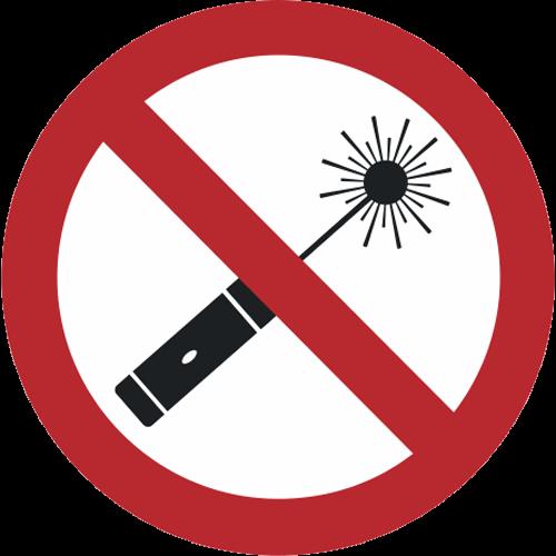 Verbot - Laserpointer verboten