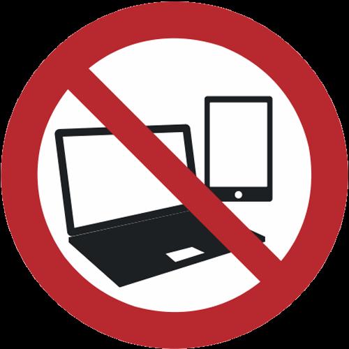 Verbot - Mitnahme von Laptops und Tablet PCs verboten