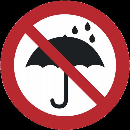 Verbot - Mitnahme von Regenschirmen verboten