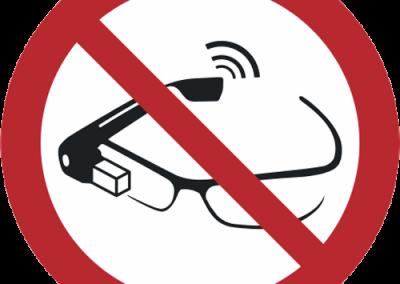 Verbot - Nutzung von Smartglasses verboten
