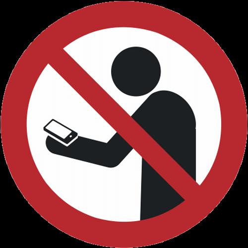 Verbot - Smartphone benutzen beim Gehen verboten