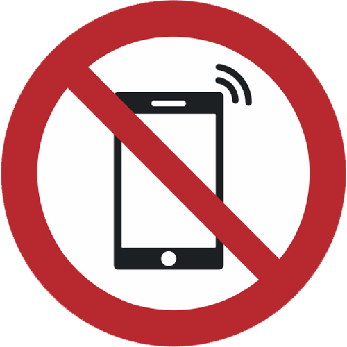 Verbot - Smartphone verboten