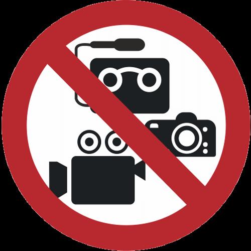 Verbot - Videoaufnahmen und Tonaufnahmen verboten