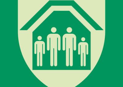 Rettungszeichen Symbol - Schutzraum
