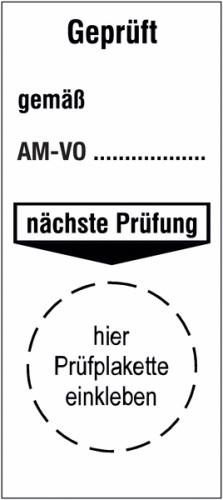 Grundplakette gemäß ÖNORM auf Bogen