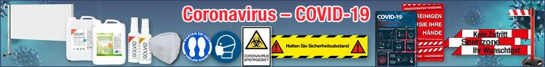Themenseite Coronavirus Schutzmaßnahmen