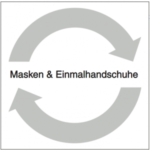 Wertstoff-Aufkleber Masken & Einmalhandschuhe