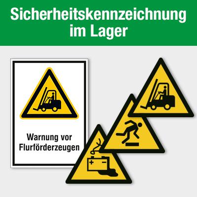 Sicherheitskennzeichnung im Lager